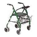 Health Monitors: Drive Aluminum Rollator, Push Lock, Green